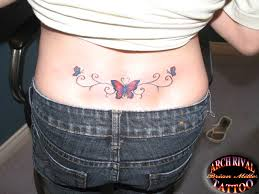 lower back tattoos lower back butterfly by