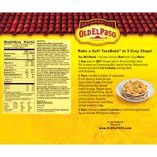 old el paso soft taco bake dinner kit 8 4 oz box walmart com