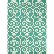 Blue And White Outdoor Rug Flourish Teal Blue Indoor Outdoor Rug Teal Blue