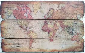 World Map On Wood Planks by Stanfords General Map Of The World On Mercator U0027s Projection