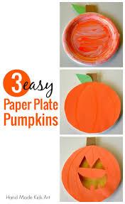 how to make 3 easy paper plate pumpkins handmade kids art