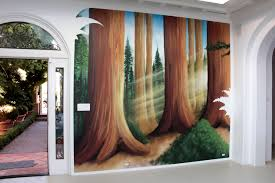 painted wall murals nature home interior painted wall murals nature