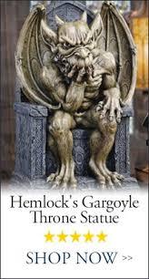 gifts gargoyle statues wall goblets garden design toscano