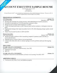good resume for accounts executive responsibilities for marketing sle resume for account executive position