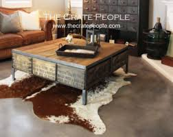 vintage wood coffee table reclaimed furniture etsy
