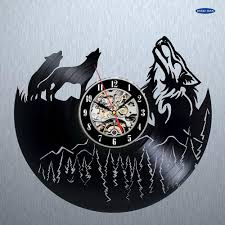 aliexpress com buy wolf pictures vinyl record wall clock get aliexpress com buy wolf pictures vinyl record wall clock get unique bedroom or kitchen wall decor gift ideas men and women cool unique modern from