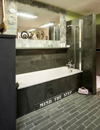 slate tiles trays and cladding for bathrooms showers wet rooms slate tiled bath with a shower over the bath