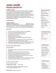 Examples Of A College Resume by Teacher Cv Template Lessons Pupils Teaching Job Coursework