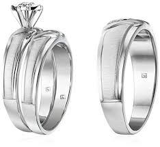 Trio Wedding Ring Sets by Sterling Silver Diamond Trio Wedding Ring Set Ez Rings