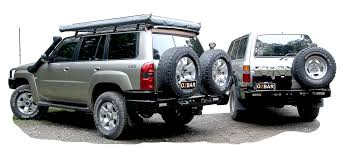 land cruiser pickup accessories ozbar rear bars spare wheel carriers jerrycan holders u0026 accessories