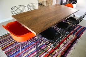 Hairpin Leg Dining Table Custom Made Walnut Dining Table With Hairpin Legs By Travis Hayes