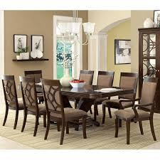 Transitional Style Furniture - woodmont transitional style walnut formal dining set u2013 24 7 shop