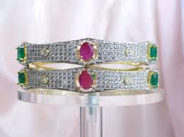 wedding bangle bracelet images Indian jewelry wedding bracelet bangle white diamond like stone jpg