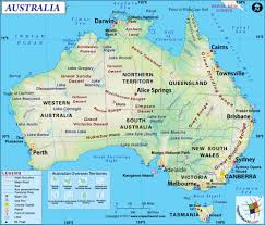 large australia map image large australia map hd picture