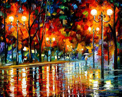 why did she leave palette knife oil painting on canvas by leonid