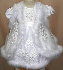 stunning baby girls maribou trim christening gown 18 24months