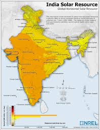 Kerala India Map by Indian Solar Resource Map