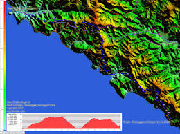 Map Of Cinque Terre Topocreator Create And Print Your Own Color Shaded Relief
