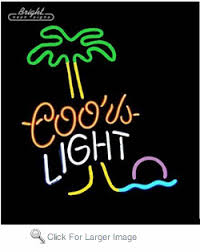 palm tree neon light coors palm tree neon sign only 299 99 coors light neon signs