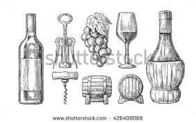 vintage wine bottle collection download free vector art stock