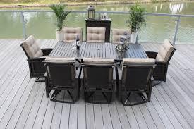 Outdoor Patio Dining Set - 9pc palmetto deep seating