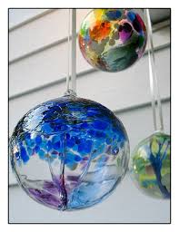 122 best witches balls orbs images on glass ornaments