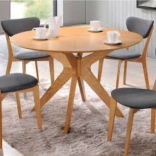 White And Oak Dining Table Balboa Modern Dining Table In Oak Eurway