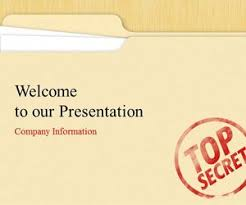 top secret powerpoint template is a free ppt template for