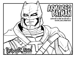 armored batman coloring page download and enjoy