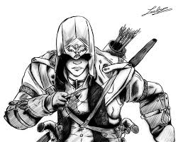 8 images of fighting assassin and the pirates coloring pages s
