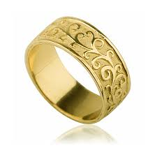 wedding rings gold yellow gold handmade vintage wedding ring