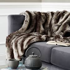 ombre faux fur throw gray west elm