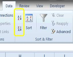 free excel tutorial sort and filter data tutorial excel 2010