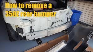 nissan 370z rear bumper how to remove a 350z rear bumper youtube