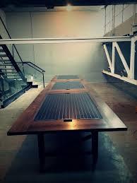 Oak Boardroom Table Custom Solar Panel Oak Conference Table By Heritage Wood Co