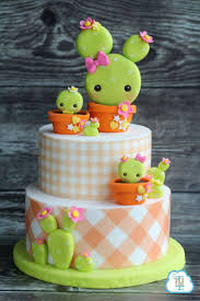 How To Decorate Cake At Home Best 25 Cactus Cake Ideas On Pinterest Cactus Cupcakes Fondant