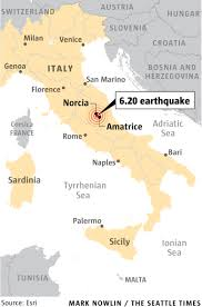 Earthquake Map Seattle by Death Toll Grows To 247 In Italian Earthquake The Seattle Times