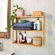 cuisine rangement bain sobuy frg28 b n etagère murale salle de bain toilettes en bambou