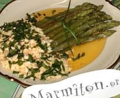 recettes cuisine marmiton asperges à la flamande recette belge bien connue recette de
