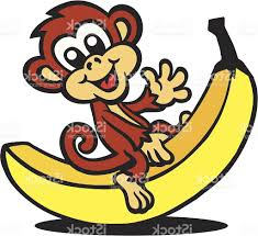 best hd monkey sitting on banana vector pictures