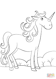 cute cartoon unicorn coloring page free printable coloring pages