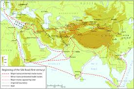Map Of The Roman Empire Silk Routes Beginning 1 Jpg