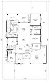 large home floor plans floor plan friday 4 bedroom study home theatre scullery and