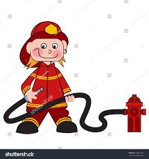 cartoon firefighter boy stock vector 180413963 shutterstock