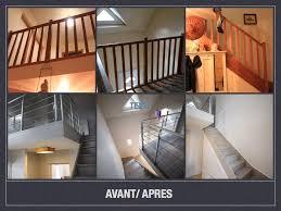 escalier peint en gris avant après projet de décoration et d u0027aménagement d u0027espace