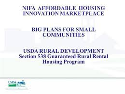 Usda Rual Development U S Dept Of Agriculture Rural Development 538 Program Offering