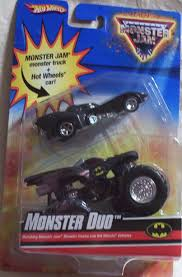 jam monster truck amazon com wheels monster jam monster duo batman 1 64 scale