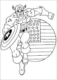 captain america superheroes u2013 printable coloring pages