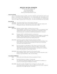 Resume For Ba College Resume Examples For High Students Quotes