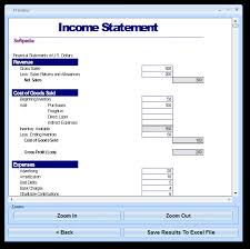 Financial Statements Templates For Excel Doc 510738 Financial Statements Templates Income Statement